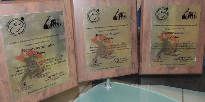 Los trofeos CITA se trasladan a Teziutlán