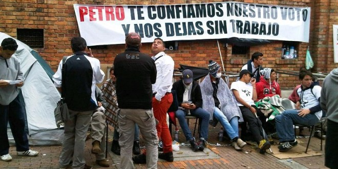Cumplen novilleros colombianos una semana en huelga de hambre