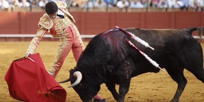 Castella malogra con la espada importante trasteo en Sevilla