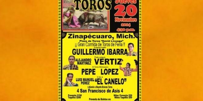 Anuncian festejo en Zinapécuaro, Michoacán