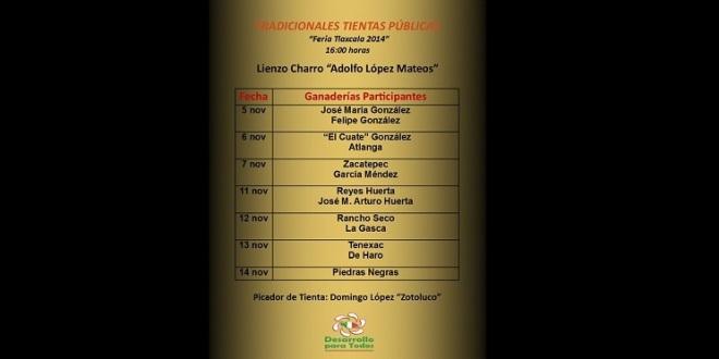 Presentan programa de tientas públicas en la Feria de Tlaxcala