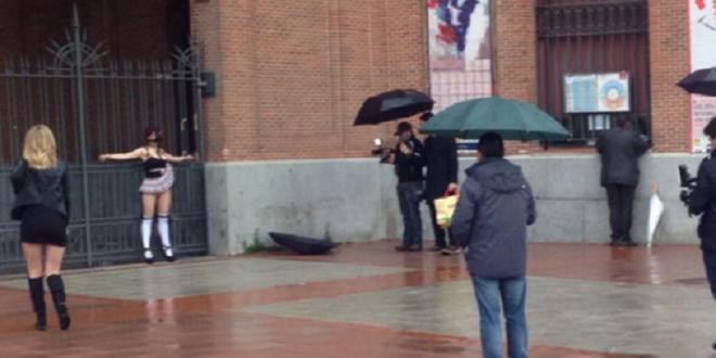 Confunden grabación de PORNO con manifestación afuera de LAS VENTAS