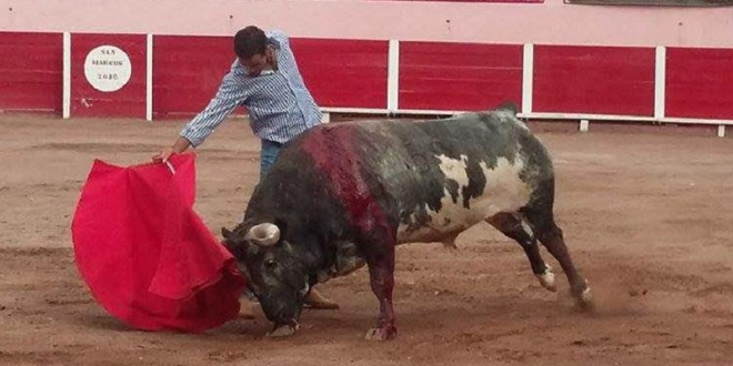 JUAN PABLO SÁNCHEZ toreó a puerta cerrada en la SAN MARCOS