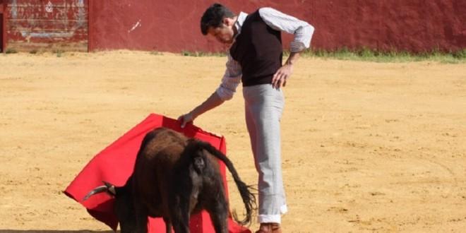 Agustín de Espartinas, en la ganadería de Hermanos Sampedro