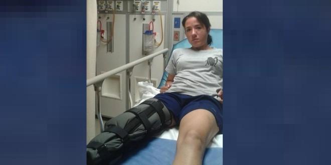 HILDA TENORIO, al QUIRÓFANO, con rotura de tendón rotuliano