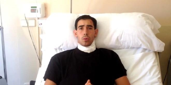 'En el suelo sentí el pitón en el cuello': JIMÉNEZ FORTES