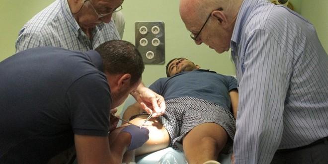 Retiran puntos de sutura a JOSELITO