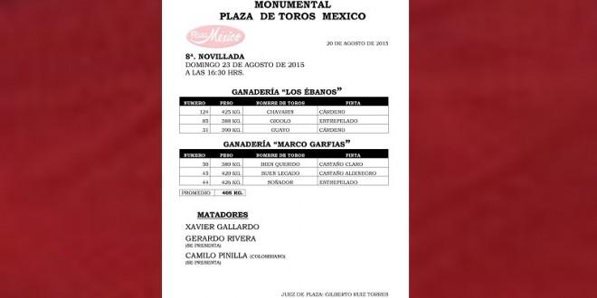 Aprueban los NOVILLOS para la MÉXICO