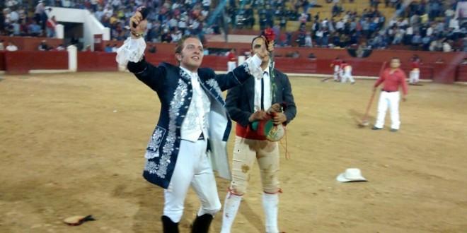 SLP: Triunfan los rejonedores RODRIGO SANTOS y JORGE HERNÁNDEZ GÁRATE
