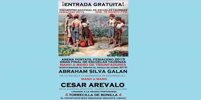 Listo el mano a mano de triunfadores de ESCUELAS TAURINAS en MONCLOVA