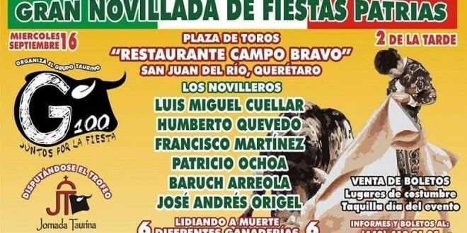 Reaparece LM  Cuéllar el día 16 en San Juan del Río tras cornada en la MÉXICO