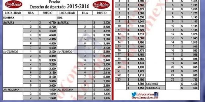 No aumentará costo de RENOVACIÓN de DERECHOS DE APARTADO de la MÉXICO
