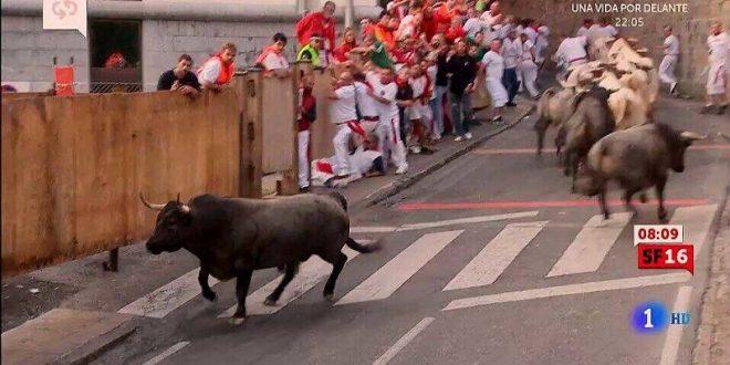 OCHO HERIDOS en el tercer sanfermín; sólo uno por asta de toro con cornada en el tórax