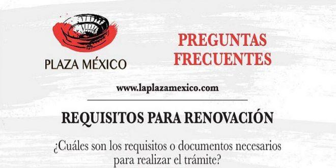 PLAZA MÉXICO: Requisitos para el CANJE DE TARJETAS DE DERECHO DE APARTADO