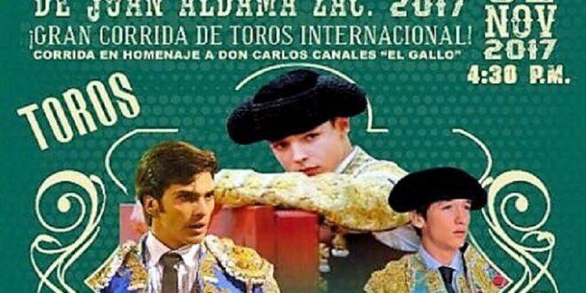 Presentan tradicional corrida para Juan Aldama