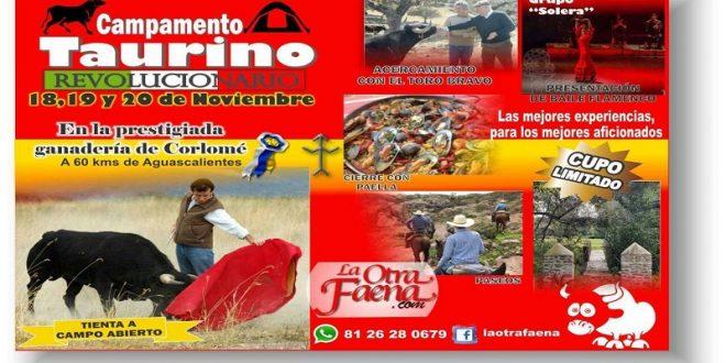Preparan CAMPAMENTO TAURINO para todos los aficionados en la ganadería de CORLOMÉ