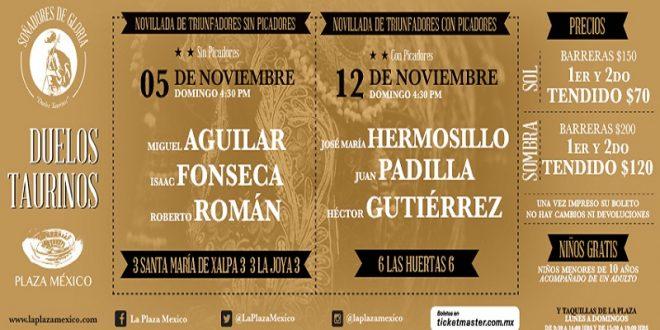PLAZA MÉXICO: Listos, los carteles de triunfadores sin caballos y con picadores