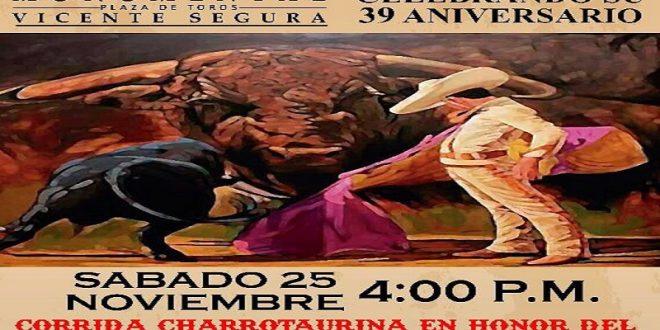 Corrida charro-taurina en Pachuca, el 25 de noviembre