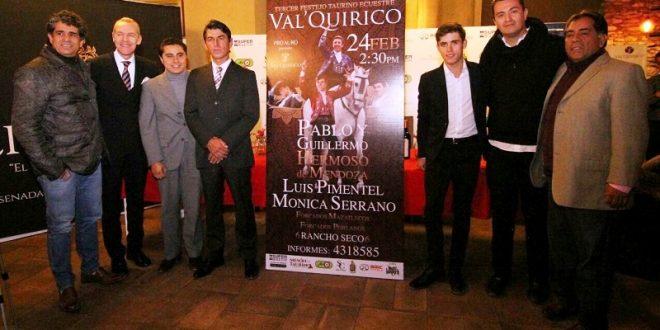 Actuarán en Val´Quirico Pablo Hermoso, Luis Pimentel, Mónica Serrano y Guillermo Hermoso