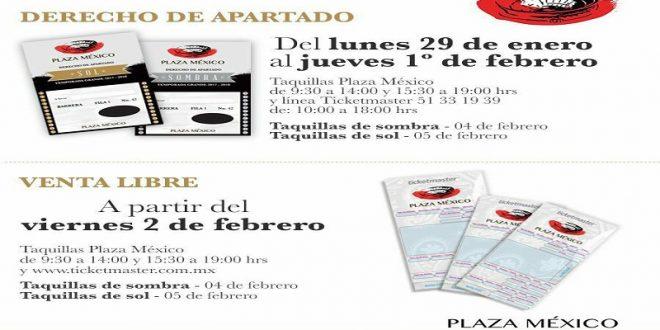 PLAZA MÉXICO: Inició la venta del derecho de apartado para los FESTEJOS de ANIVERSARIO; la venta libre inicia el VIERNES