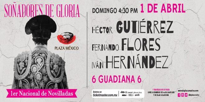 PLAZA MÉXICO: Héctor Gutiérrez, Fernando Flores e Iván Hérnández, con Guadiana