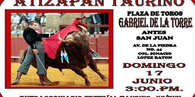 Atenco lidiará en Atizapán de Zaragoza, en festival juvenil