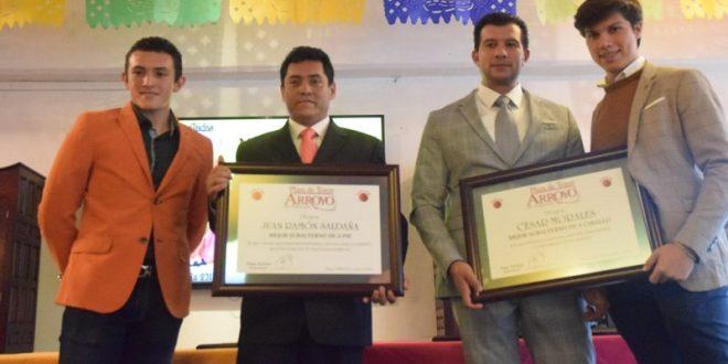 Entregan premios a triunfadores en Arroyo