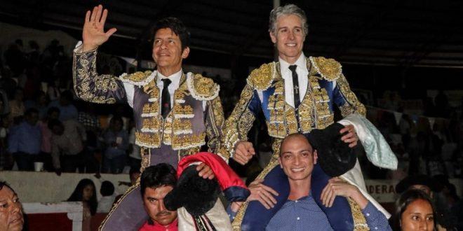 Salen a hombros PIZARRO y EL ZAPATA, en Tlahuelilpan