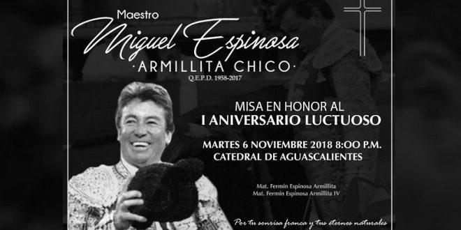 Misa, en memoria de 'Armillita Chico'