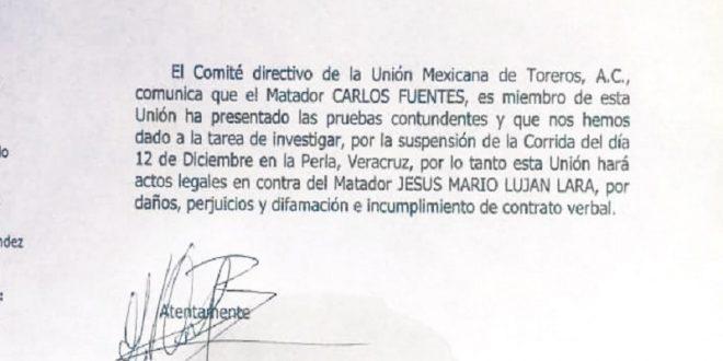La UMT, contra Luján por daños y perjuicios contra Carlos Fuentes