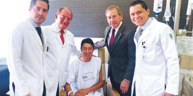 Exitosa operación, a Sergio Flores