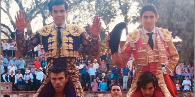 Diego San Román y Héctor Gutiérrez, en Moralzarzal