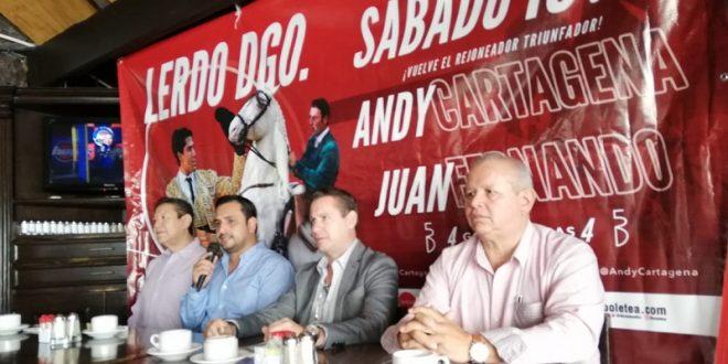 ANDY CARTAGENA, el 16 de noviembre, en CIUDAD LERDO, Durango