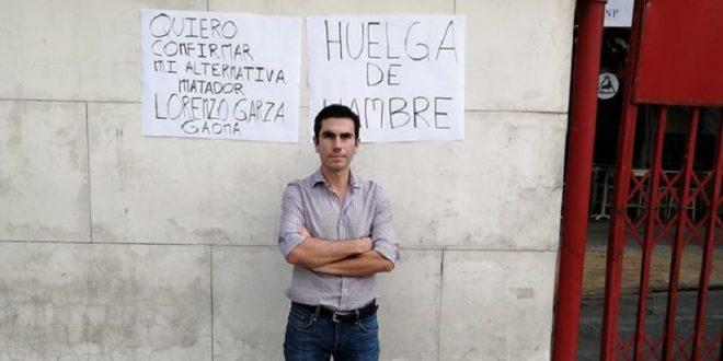 ¡Garza Gaona en huelga de hambre!