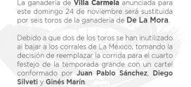 Cambia el encierro para el domingo en la México