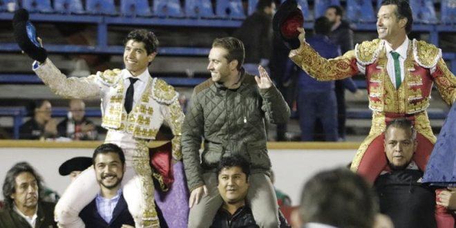 En Puebla, a hombros Jerónimo y Luis David; una oreja, a Diego  Silveti