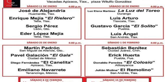 Presentan carteles para las vacadas del serial 'Busca un Torero' en Apizaco