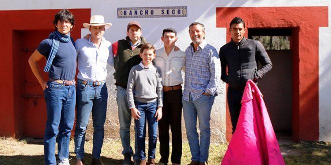 Isaac Fonseca, de tienta en Rancho Seco
