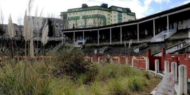 Derrumbe, en olvidada plaza española de Oviedo