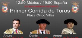 ¡PRIMERA CORRIDA de toros formal, en CINCO VILLAS!