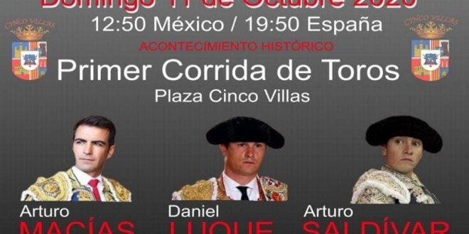 ¡PRIMERA CORRIDA de toros formal, en CINCO VILLAS!