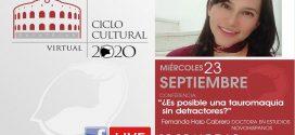 Con dos eventos al hilo concluirá el Ciclo Cultural Virtual de Zacatecas