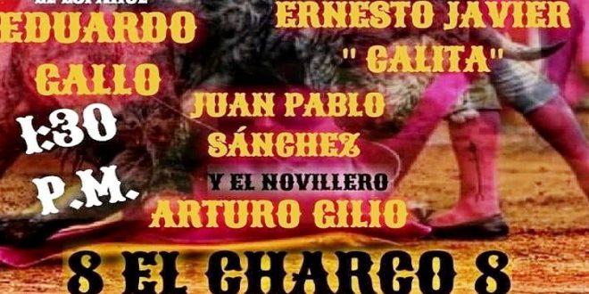 Gallo, 'Calita', Sánchez y Gilio comparten cartel el día 30