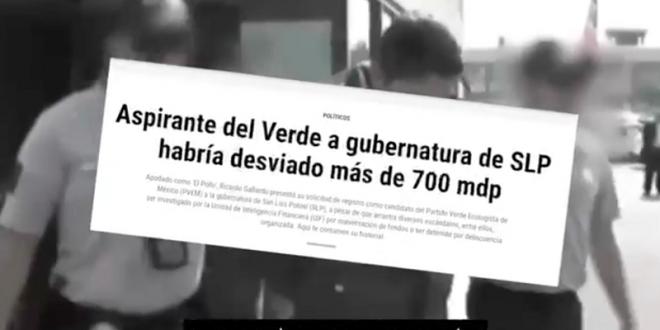 Circula duro video contra candidato del Verde en SLP 'MERECEMOS VIVIR SIN MIEDO'
