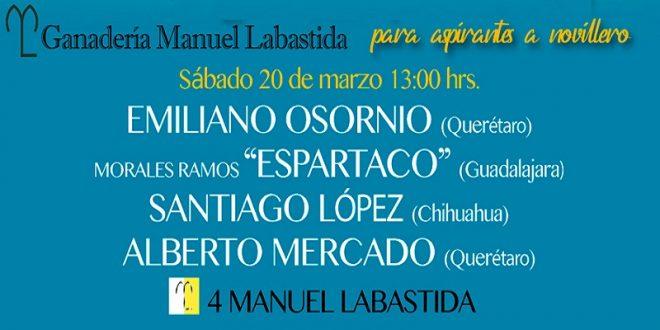 Presentan el segundo cartel del certamen QUIERO SER TORERO