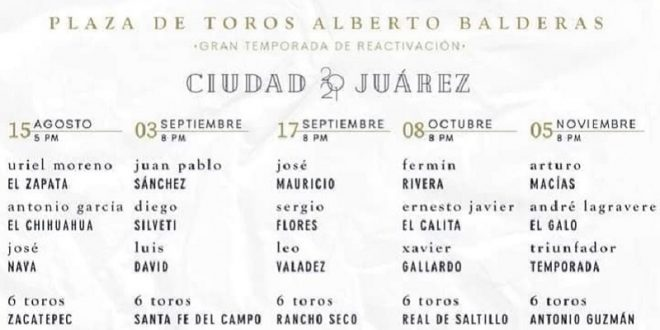 Habrá actividad en Ciudad Juárez de agosto a noviembre