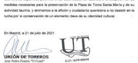 Salven la Santa María, la voz de la Unión de Toreros de España