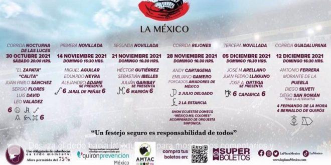 ¡EN LA MÉXICO, TRES CORRIDAS DE TOROS Y TRES NOVILLADAS!